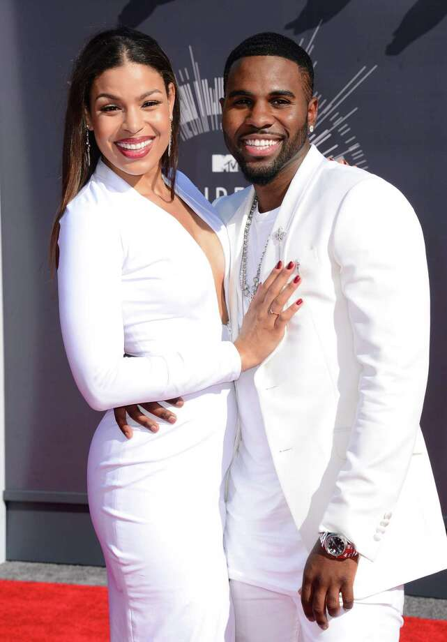 Jordin Sparks, left, and Jason Derulo arrive at the MTV Video Music Awards at The Forum on Sunday, Aug. 24, 2014, in Inglewood, Calif. Photo: Jordan Strauss, AP / Invision