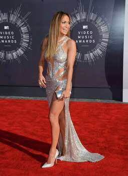 Jennifer Lopez arrives at the MTV Video Music Awards at The Forum on Sunday, Aug. 24, 2014, in Inglewood, Calif. Photo: Jordan Strauss, AP / Invision