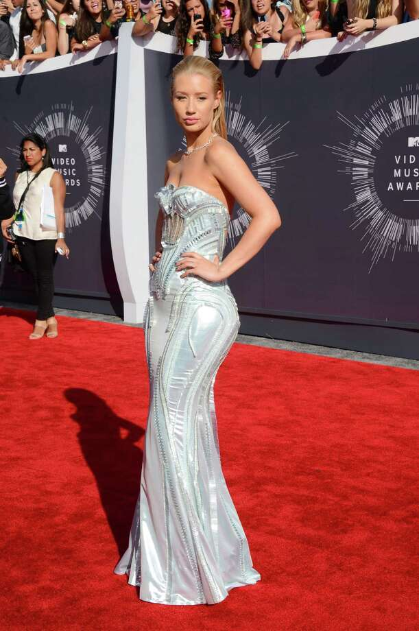 Iggy Azalea arrives at the MTV Video Music Awards at The Forum on Sunday, Aug. 24, 2014, in Inglewood, Calif. Photo: Jordan Strauss, AP / Invision