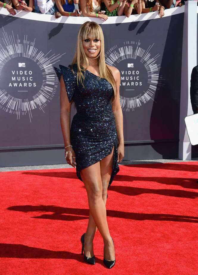 Laverne Cox arrives at the MTV Video Music Awards at The Forum on Sunday, Aug. 24, 2014, in Inglewood, Calif. Photo: Jordan Strauss, AP / Invision
