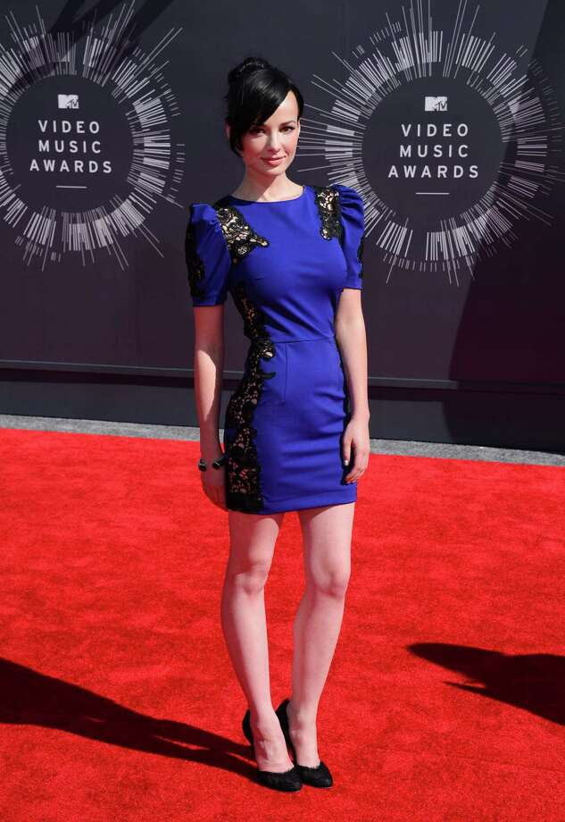 Ashley Rickards arrives at the MTV Video Music Awards at The Forum on Sunday, Aug. 24, 2014, in Inglewood, Calif. Photo: Jordan Strauss, AP / Invision
