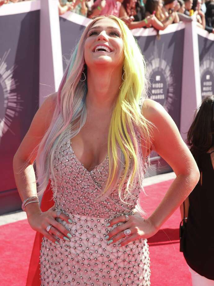 Kesha arrives at the MTV Video Music Awards at The Forum on Sunday, Aug. 24, 2014, in Inglewood, Calif. Photo: Matt Sayles, AP / Invision