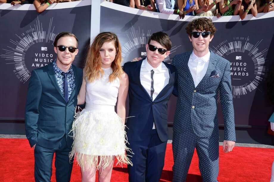 Echosmith arrives at the MTV Video Music Awards at The Forum on Sunday, Aug. 24, 2014, in Inglewood, Calif. Photo: Jordan Strauss, AP / Invision