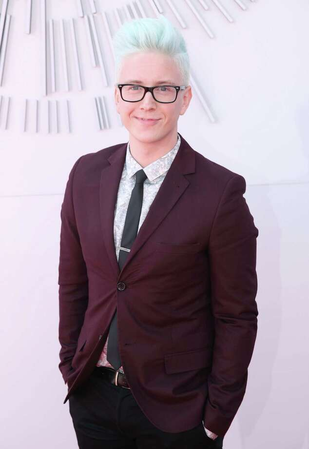 Tyler Oakley arrives at the MTV Video Music Awards at The Forum on Sunday, Aug. 24, 2014, in Inglewood, Calif. Photo: Matt Sayles, AP / Invision