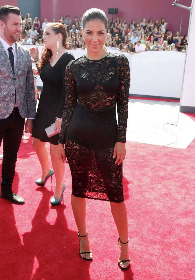 Liz Hernandez arrives at the MTV Video Music Awards at The Forum on Sunday, Aug. 24, 2014, in Inglewood, Calif. Photo: Matt Sayles, AP / Invision