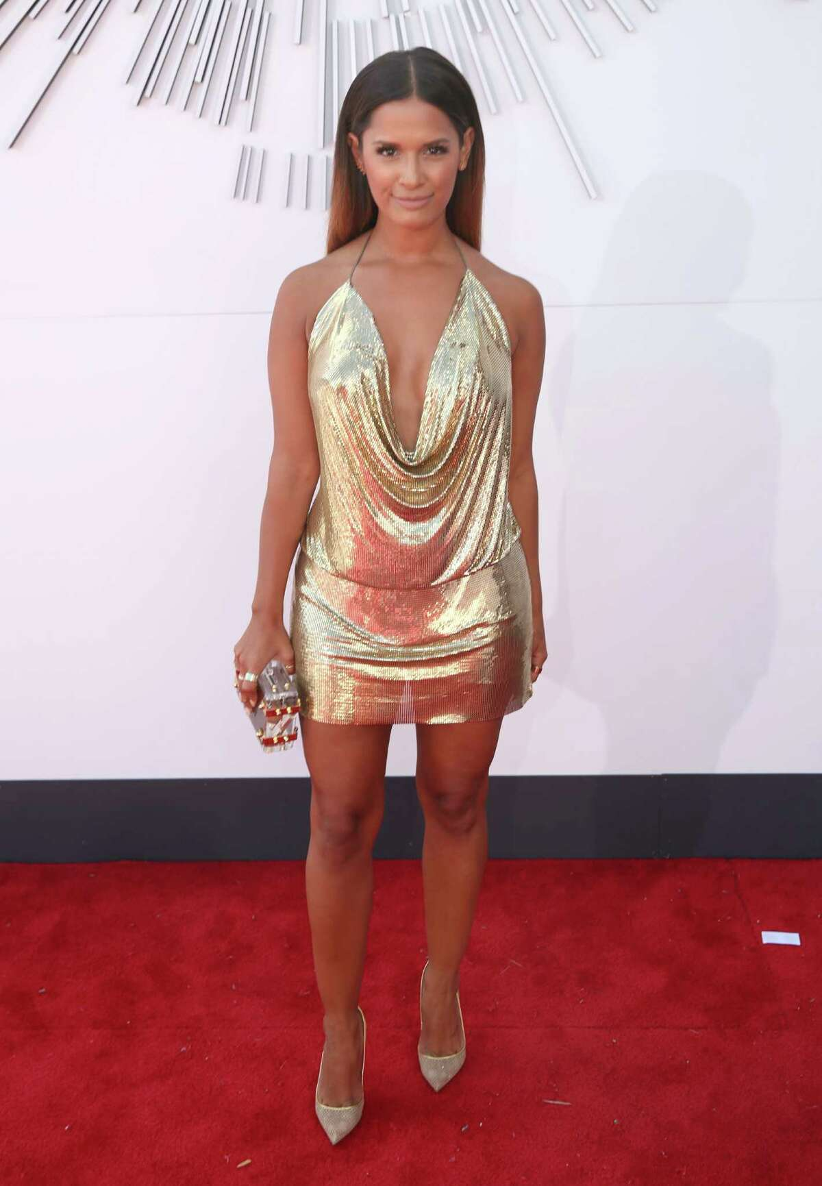 Rocsi Diaz arrives at the MTV Video Music Awards at The Forum on Sunday, Aug. 24, 2014, in Inglewood, Calif.