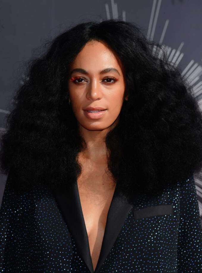 Solange Knowles arrives at the MTV Video Music Awards at The Forum on Sunday, Aug. 24, 2014, in Inglewood, Calif. Photo: Jordan Strauss, AP / Invision