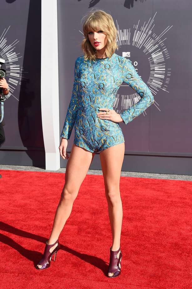 BestEven though Taylor Swift is wearing an unflattering gymnastics leotard from 1976, we are giving her credit for not wearing the same floofy ballgown she's been sporting on the red carpet for the last five years.  Photo: Frazer Harrison, Getty Images
