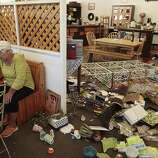Cheryl Richburg, owner of Napa Valley Traditions, makes a to-do list for cleaning up her shop on Sunday, August 24, 2014 in Napa, Calif.  A 6.0 earthquake rattled much of the Bay Area early Sunday morning.