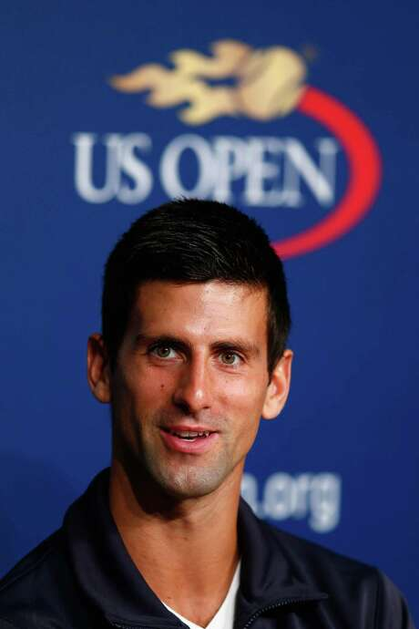 NEW YORK, NY - AUGUST 23:  Novak Djokovic of Serbia talks to the media during previews for the US Open tennis at USTA Billie Jean King National Tennis Center on August 23, 2014 in New York City.  (Photo by Julian Finney/Getty Images) Photo: Julian Finney, Staff / 2014 Getty Images