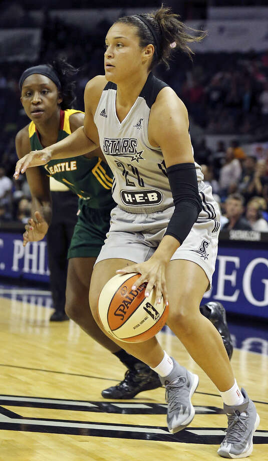 Rookie guard Kayla McBride could be poised to become the next face of the Stars' franchise. Photo: Edward A. Ornelas / San Antonio Express-News / © 2014 San Antonio Express-News