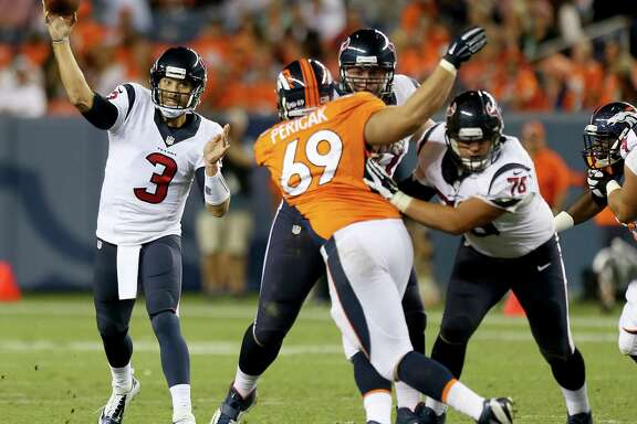 Texans quarterback Tom Savage led a game-winning scoring drive to beat the Broncos on Saturday night, but the rookie's body of work in the NFL is too small a sample to be definitive.