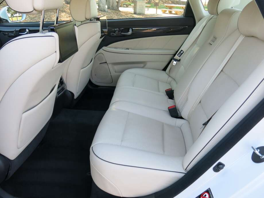Rear seat passengers get the full-boat comfort treatment.