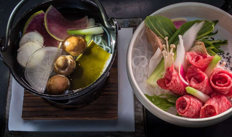 The Japanese A5 Beef Shabu Shabu at Pabu in San Francisco. Photo: John Storey, Special To The Chronicle