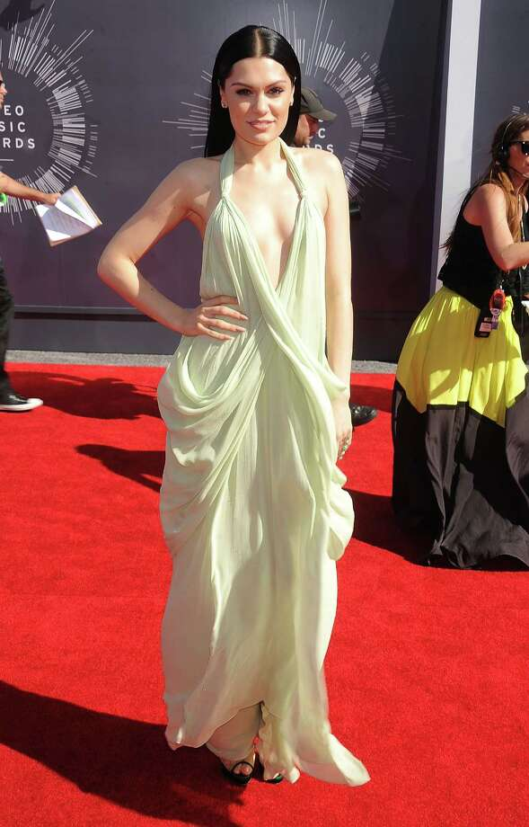 WorstJessie J seems to be going to the ethereal, floaty look, but too much fabric makes things sad and droopy instead. Photo: Gregg DeGuire, Getty Images / 2014 Gregg DeGuire