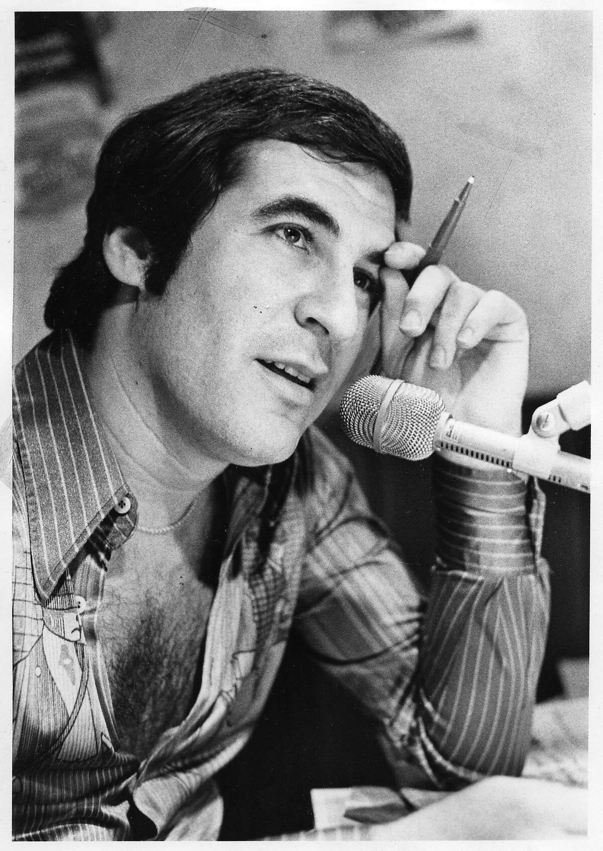 Ronn Owens in a 1976 photo provided by KGO, shortly after he joined the station.