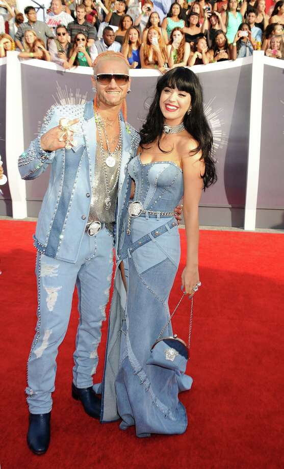 WorstJustin and Britney from Nightmare Land...oh never mind, it's Katy Perry and Houston's own Riff Raff, who apparently met when a hole developed in the space time continuum. Perry channeled Britney as part of a Twitter dare, and we have to say she outdid the waning pop star. Photo: Jeffrey Mayer, Getty Images / 2014 Jeffrey Mayer