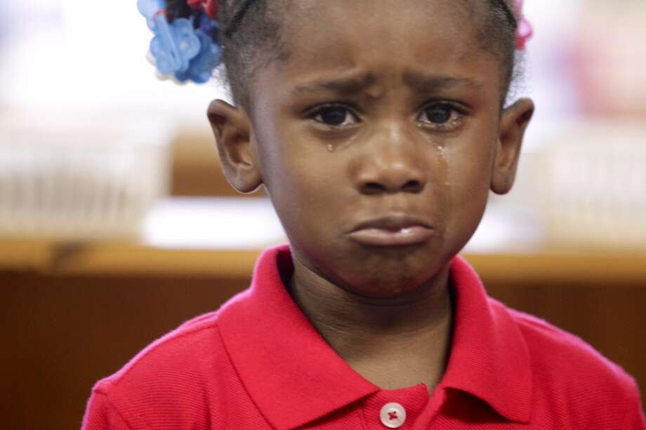 T'Ieviea Smith, 3 at Garden Oaks Elementary. (Photo by Johnny Hanson/Houston Chronicle)