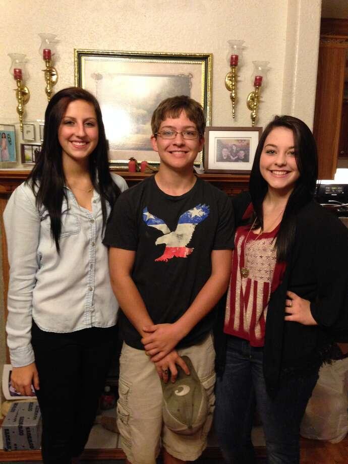 Left to right: Sarah Lewis - senior, Trevor McLendon - senior, Alysen Campbell - junior.
