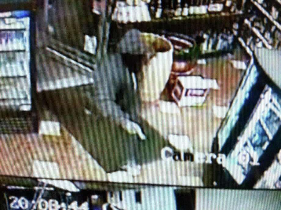 One of two suspects in an armed robbery of a Brooklawn Avenue liquor store Friday night. Photo: Contributed Photo /  Fairfield Citizen contributed