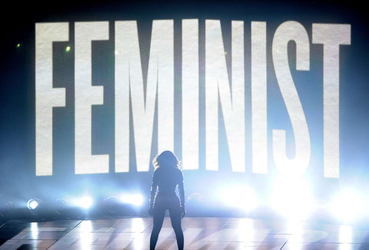 """Feminism, as explained by stock images In 2013, Sheryl Sandberg, the Facebook exec turned bestselling author of """"Lean In: Women, Work and the Will to Lead,"""" partnered with Getty Images to help the stock photo company provide more positive images of women among their posed image options. We did a search of our Getty Images account (mea culpa: yes, we subscribe to Getty) and these were among the Top 100 images results for the word """"feminism."""" Click through the slideshow to see the top 100 Getty stock images that come up when you search the word """"feminist."""" Do you agree with the message they portray? (Note: Some images from the Top 100 results were excluded to avoid repetition of near-identical images.) Above: The Queen Bey, Beyonce Knowles, in concert in front of a """"feminist"""" sign."""
