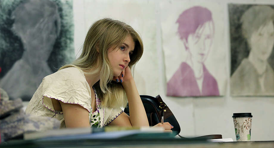 Sofia Eichelmann listens to an instructor during a class as Southwest School of Art launches it's new BFA program with a basic design class called Foundations I, with 22 students. Monday, Aug. 25, 2014. Photo: BOB OWEN, San Antonio Express-News / © 2012 San Antonio Express-News