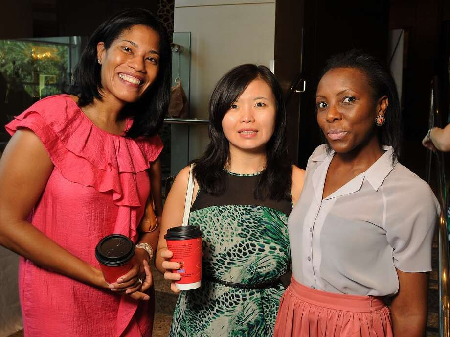 From left: Konya Keeling-Johnson, Lei Chu and Daisy Ayim Photo: Dave Rossman, For The Houston Chronicle