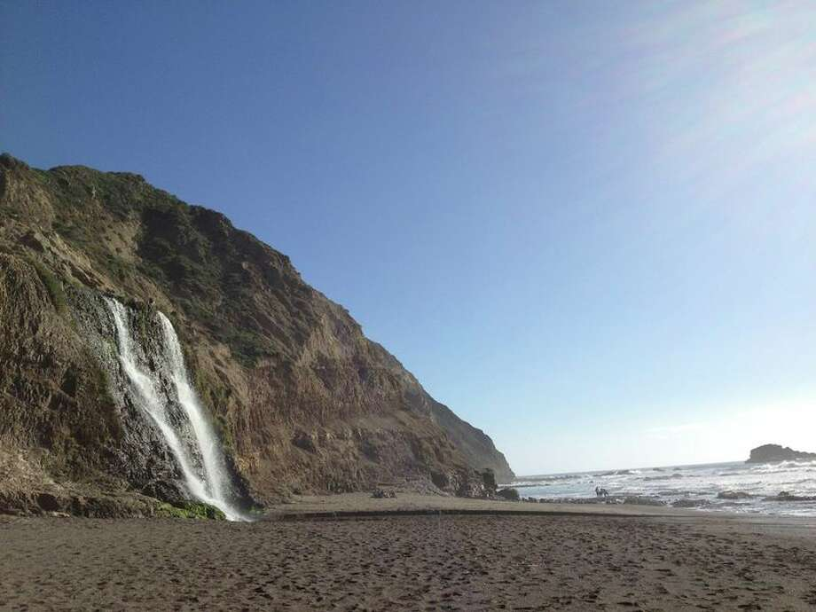 Or perhaps you'd like a hike with an even more dramatic reward? On the southern end of the Point Reyes National Seashore, an all-day hike (8 miles total) for more experienced hikers takes you to a waterfall on the beach -- Alamere Falls. Definitely carpool, because it gets pretty crowded here, both at the parking lot and at the waterfall. Here's the map of the route. Photo: Jessica Mullins