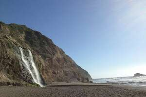 Or perhaps you'd like a beach-ending hike with an even more dramatic reward? On the other end of the Point Reyes National Seashore, is an all-day hike (8 miles total) takes you to a waterfall on the beach -- Alamere Falls. It gets pretty crowded here - both at the parking lot and at the waterfall - so if your schedule allows, this hike is the best to experience in the middle of the week.  Click here to see a Google Map of hike route .