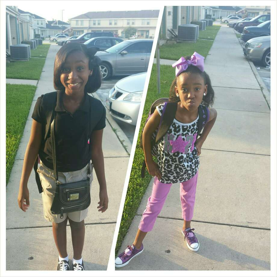 Breyona Bias, 7th grade at King Middle School and Rheniya Bias, 2nd grade at Jones-Clark Elementary School.