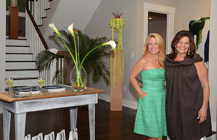 Susan Vanech, left, and Cynthia Melchiorri of William Pitt Sothebyís International Realty organized a marketing event in July they called Artful Summer Gathering at a home on Valley Road in Westport. Photo: Contributed Photo / Westport News