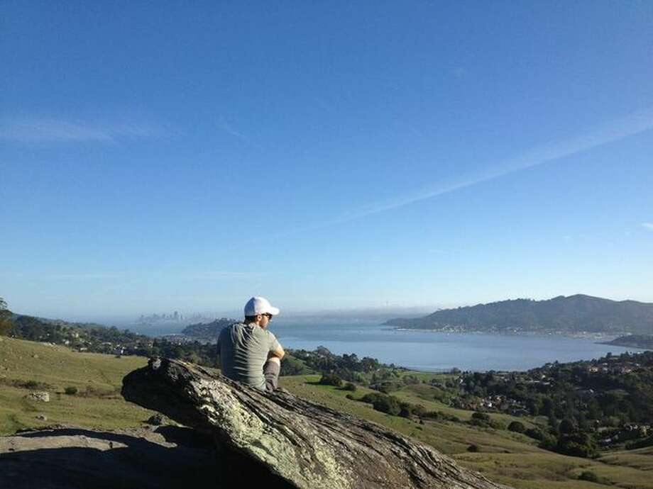 Ring Mountain's range of views include San Francisco, San Quentin and much of Southern Marin. A roughly 2-mile loop begins off Paradise Drive in Corte Madera and peaks at a gorgeous summit in the Ring Mountain Open Space Preserve.Here's a Google Map of our recommended hike.