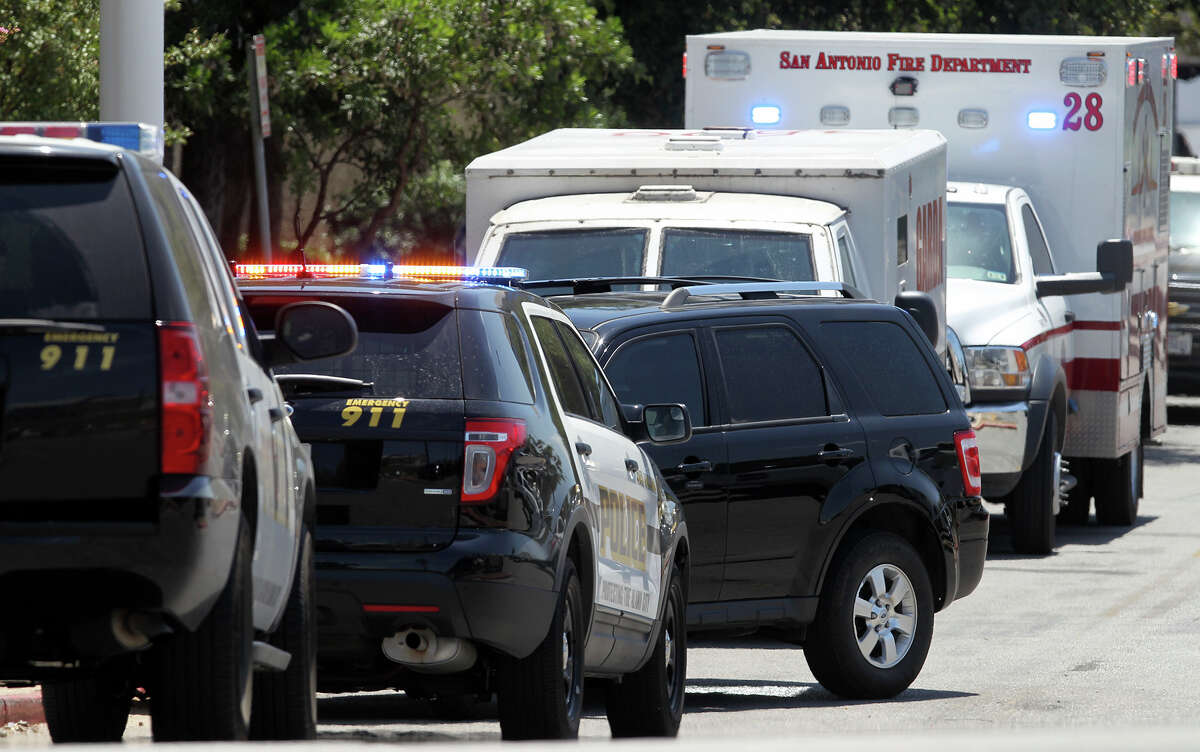 Police are still searching for two men accused of pepper spraying the driver of an armored truck at the North Star Mall on Monday morning and running away with a bag of money. Photo by John Davenport / San Antonio Express-News.