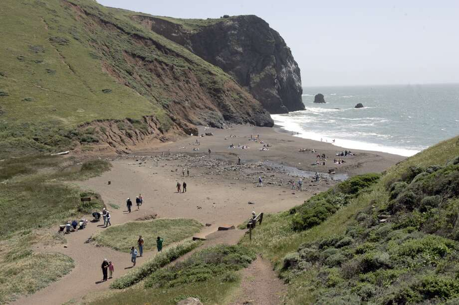 The easy and beautiful Tennessee Valley Trail goes to the Tennessee Valley beach (pictured). The hike, a total of 3.6 miles out and back, is relatively flat and popular among leisurely walkers, kids on bikes and runners. Here's a map outlining the walk through Tennessee Valley Trail. We recommend carpooling, since parking gets very full on the weekends.