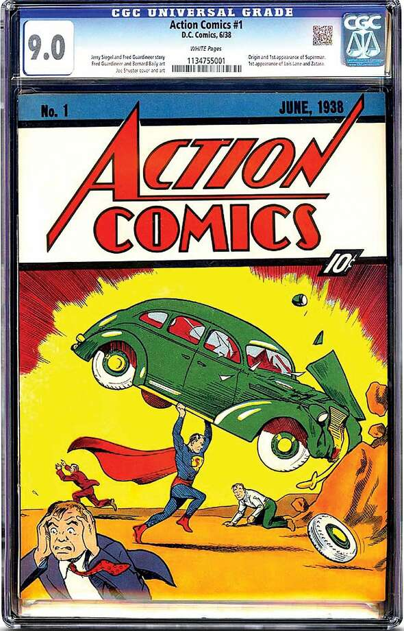 The nearly flawless copy of Superman's 1938 comic-book debut sold for $3.2 million. Photo: Associated Press