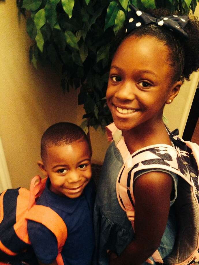 Zachary, pre-kindergarten and Reagan, second grade. Submitted by Arlene Hardy.