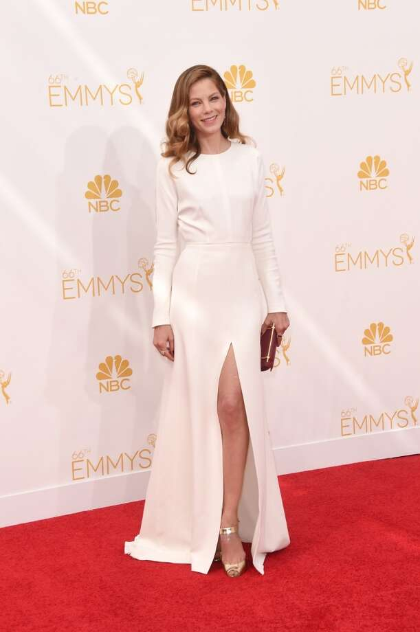 Actress Michelle Monaghan attends the 66th Annual Primetime Emmy Awards held at Nokia Theatre L.A. Live on August 25, 2014 in Los Angeles, California. Photo: Jason Merritt, Getty Images
