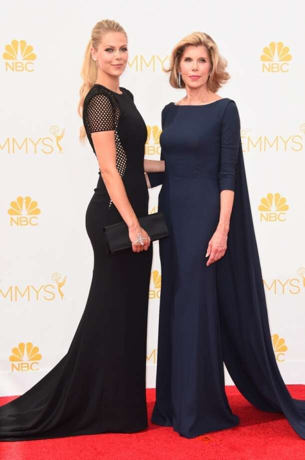 Lily Cowles (L) and actress Christine Baranski attend the 66th Annual Primetime Emmy Awards held at Nokia Theatre L.A. Live on August 25, 2014 in Los Angeles, California. Photo: Frazer Harrison, Getty Images