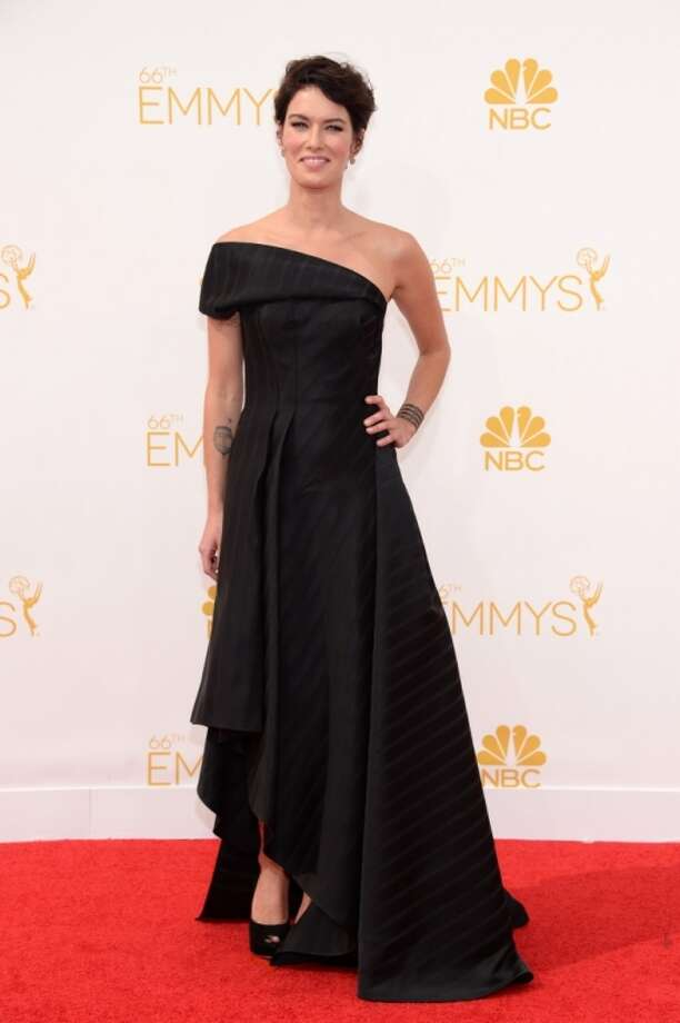 Lena Headey arrives at the 66th Primetime Emmy Awards at the Nokia Theatre L.A. Live on Monday, Aug. 25, 2014, in Los Angeles. Photo: Evan Agostini, Associated Press