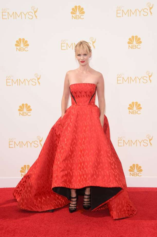 Actress January Jones attends the 66th Annual Primetime Emmy Awards held at Nokia Theatre L.A. Live on August 25, 2014 in Los Angeles, California. Photo: Jason Merritt, Getty Images