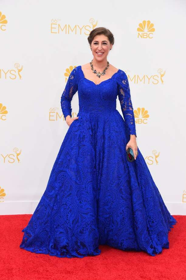 Actress Mayim Bialik attends the 66th Annual Primetime Emmy Awards held at Nokia Theatre L.A. Live on August 25, 2014 in Los Angeles, California. Photo: Frazer Harrison, Getty Images