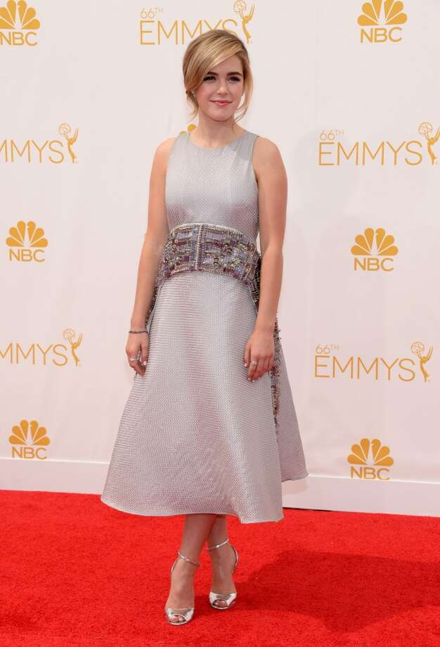 Kiernan Shipka arrives at the 66th Primetime Emmy Awards at the Nokia Theatre L.A. Live on Monday, Aug. 25, 2014, in Los Angeles. Photo: Evan Agostini, Associated Press