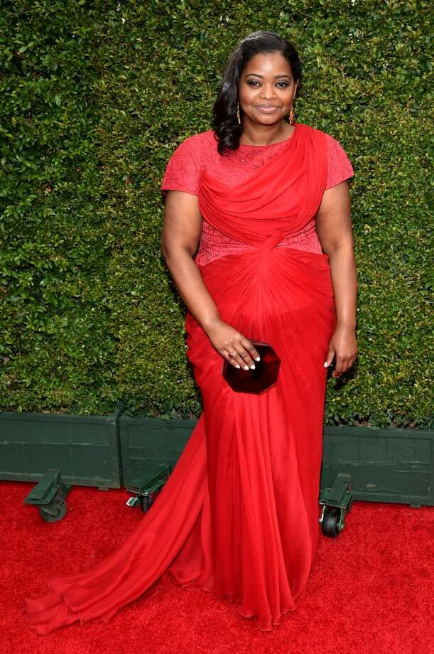 Octavia Spencer arrives at the 66th Primetime Emmy Awards at the Nokia Theatre L.A. Live on Monday, Aug. 25, 2014, in Los Angeles. Photo: John Shearer, Associated Press