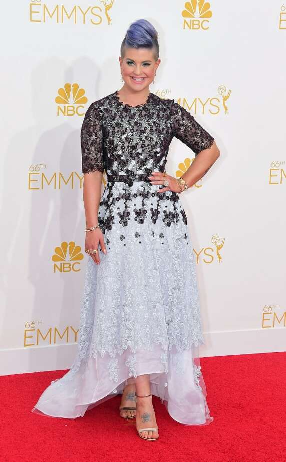 Kelly Osbourne arrives on the red carpet for the 66th Emmy Awards, August 25, 2014 at Nokia Theatre in Los Angeles, California. Photo: FERDERIC J. BROWN, AFP/Getty Images