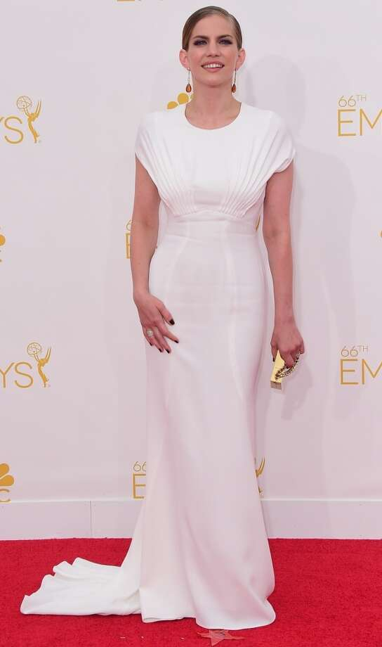 Actress Anna Chlumsky  arrives on the red carpet for the 66th Emmy Awards, August 25, 2014 at Nokia Theatre in Los Angeles, California. Photo: FERDERIC J. BROWN, AFP/Getty Images