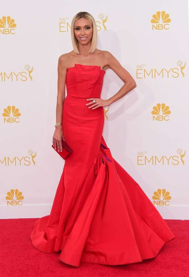 Television personality Giuliana Rancic  arrives on the red carpet for the 66th Emmy Awards, August 25, 2014 at Nokia Theatre in Los Angeles, California. Photo: FERDERIC J. BROWN, AFP/Getty Images