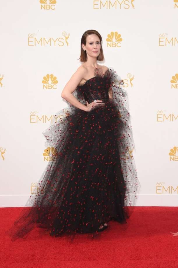Actress Sarah Paulson attends the 66th Annual Primetime Emmy Awards held at Nokia Theatre L.A. Live on August 25, 2014 in Los Angeles, California. Photo: Jason Merritt, Getty Images