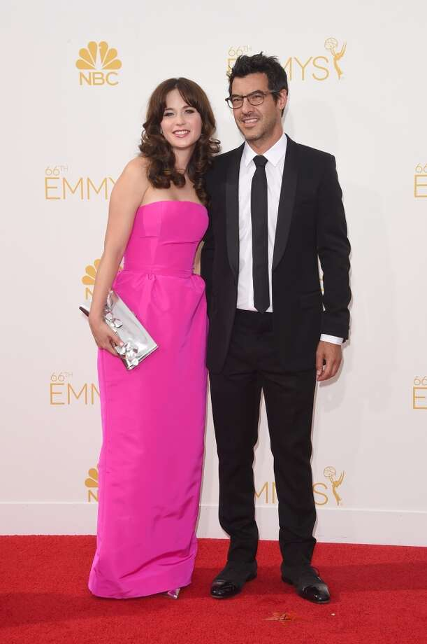 Actress Zooey Deschanel and producer Jacob Pechenik attend the 66th Annual Primetime Emmy Awards held at Nokia Theatre L.A. Live on August 25, 2014 in Los Angeles, California. Photo: Jason Merritt, Getty Images