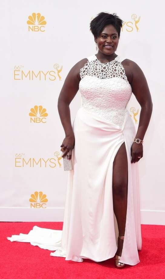 Actress Danielle Brooks arrives on the red carpet for the 66th Emmy Awards, August 25, 2014 at Nokia Theatre in Los Angeles, California. Photo: FREDERIC J BROWN, AFP/Getty Images