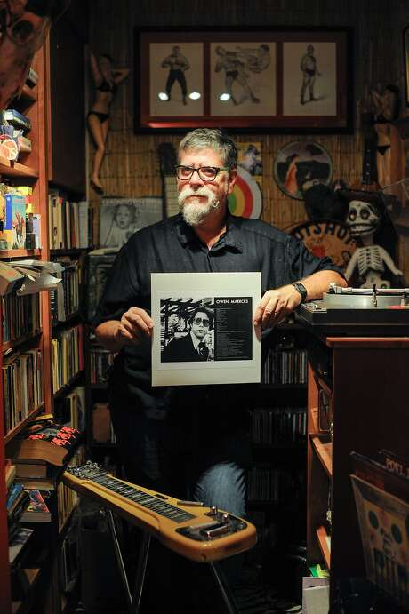 "Owen Maercks of Richmond shows his 1978 album, ""Teenage Sex Therapist,"" which wasn't released to the public until now. Photo: Craig Hudson, The Chronicle"